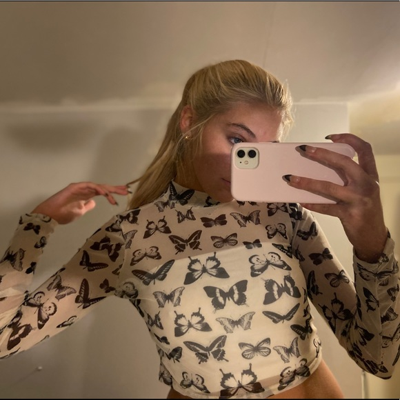 Forever 21 mesh Butterfly top